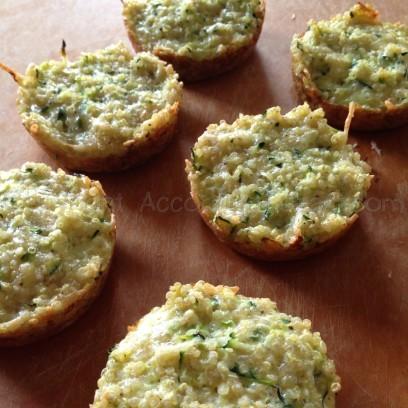 Zucchini parmesan quinoa bites